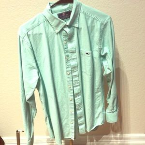Vineyard Vines M Slim Fit Mint Green Oxford